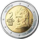 Евро 2 евро австрия