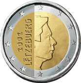 Евро 2 евро люксембург